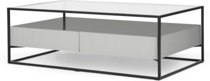 An Image of Jaxta Coffee Table, Grey and Glass