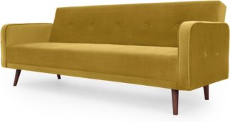An Image of Chou Click Clack Sofa Bed, Vintage Gold Velvet