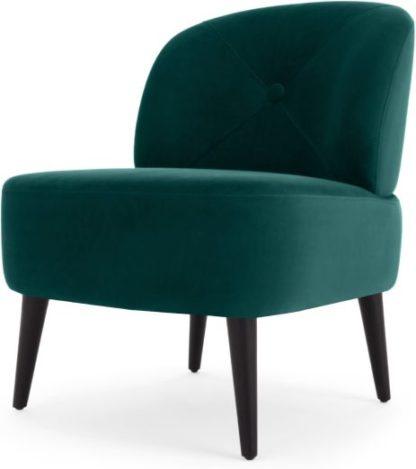 An Image of Jasper Accent Armchair, Seafoam Blue Velvet