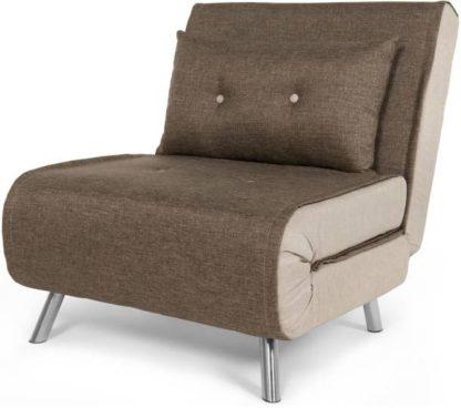 An Image of Haru Single Sofa Bed, Woodland Brown