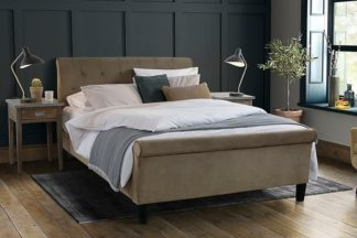 An Image of Portofino Bed Latte Velvet