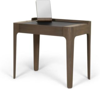 An Image of Zeke dressing table and mirror, walnut and black