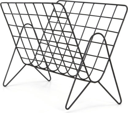 An Image of MADE Essentials Moss Wire Magazine Rack, Black