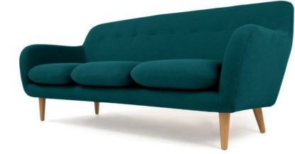 An Image of Dylan 3 Seater Sofa, Mineral Blue