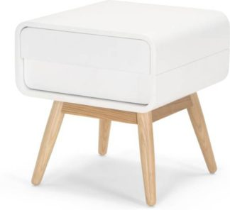 An Image of Esme Bedside Table, White and Ash