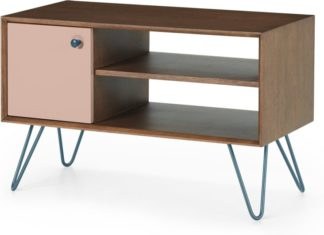 An Image of Dotty Media unit, Dark Stain and Pink