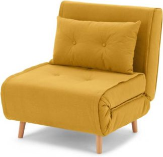 An Image of Haru Single Sofa Bed, Butter Yellow