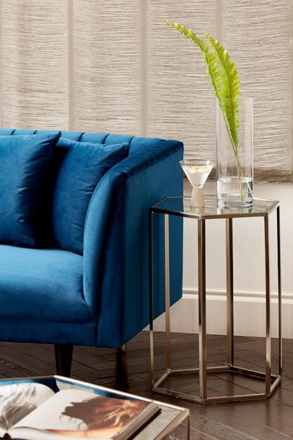 An Image of Alveare Brushed Steel Side Table