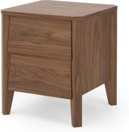 An Image of Mara Bedside Table, Walnut and Grey