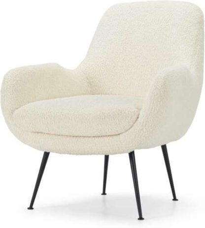 An Image of Moby Accent Armchair, Faux Sheepskin