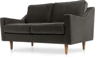 An Image of Dallas 2 Seater Sofa, Concrete Cotton Velvet
