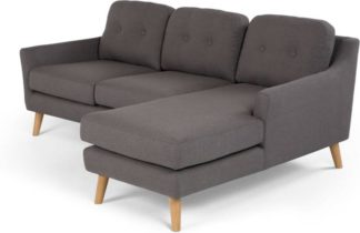 An Image of Rufus Right Hand Facing Chaise End Corner Sofa, Rhino Grey