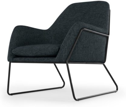 An Image of Frame Armchair, Textured Weave Navy