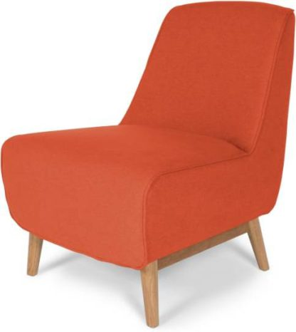 An Image of Leo Accent Chair, Retro Orange