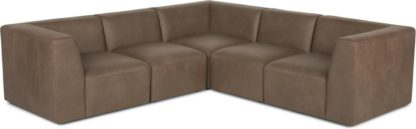 An Image of Juno 5 Seater Corner Sofa, Columbus Brown Leather