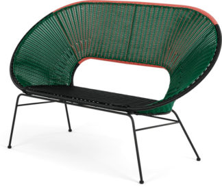 An Image of Yuri Garden Bench, Multi Woven Green