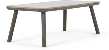 An Image of Alif Coffee Table, Concrete and Grey Eucalyptus