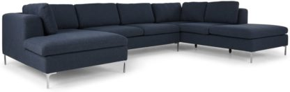 An Image of Monterosso Right Hand Facing Corner Sofa, Storm Blue