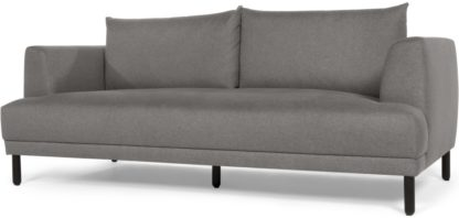 An Image of Bowery 3 seater sofa, Fossil Grey