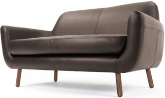 An Image of Jonah 2 Seater Sofa, Ale Brown Premium Leather