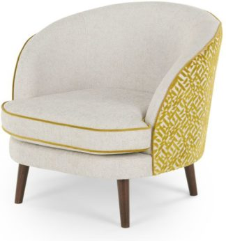 An Image of Gertie Accent Chair, Dufrene Moss Velvet