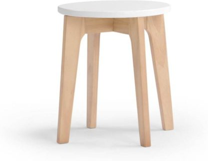 An Image of Linus Stool, Pine and White