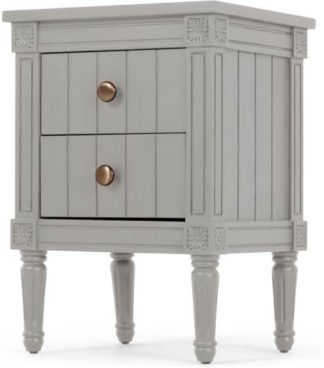 An Image of Bourbon Vintage Bedside, Grey