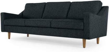 An Image of Dallas 3 Seater Sofa, Textured Weave Navy