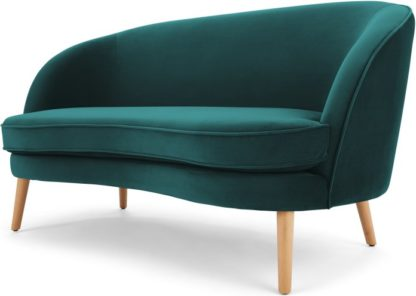 An Image of Gertie 2 Seater Sofa, Seafoam Blue Velvet