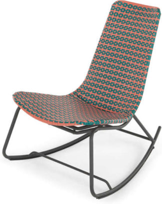 An Image of Pya Garden Rocker, Pink and Green