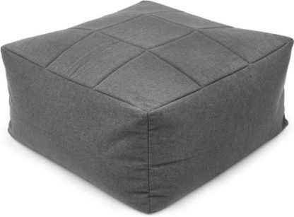 An Image of Loa Quilted Floor Cushion, Marl Grey