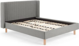 An Image of Tilia Quilted King Size Bed, Cool Grey