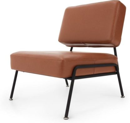 An Image of Knox Accent Chair, Chestnut Brown Leather