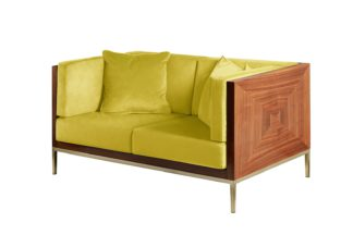 An Image of Ravello Two Seat Sofa - Olive