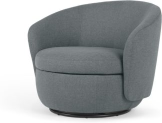 An Image of Delores Swivel Accent Chair, Brooklyn Grey