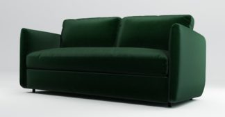 An Image of Custom MADE Fletcher 3 Seater Sofabed with Pocket Sprung Mattress, Bottle Green Velvet