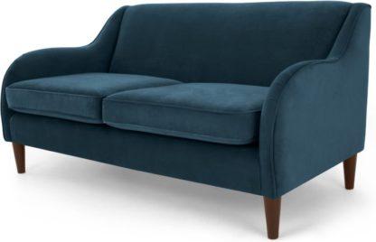 An Image of Helena 3 Seater Sofa, Plush Teal Velvet