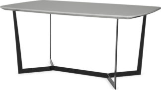 An Image of Jaxta 6 Seat Dining Table, Grey Gloss