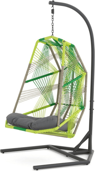 An Image of Copa Garden Hanging Chair, citrus green