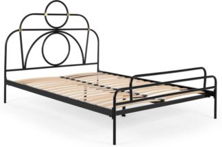 An Image of Anthea Metal Double Bed, Black