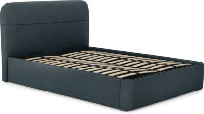 An Image of Baya Super King Size Bed with Ottoman Storage, Aegean Blue