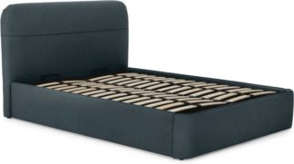 An Image of Baya Double Bed with Ottoman Storage, Aegean Blue