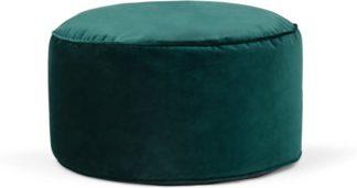 An Image of Lux Velvet floor cushion, Teal Velvet