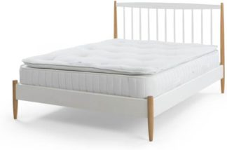An Image of Oppala 1500 Pocket Pillow Top Memory Foam Double Mattress, White