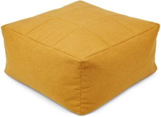 An Image of Loa Quilted Floor Cushion, Yolk Yellow