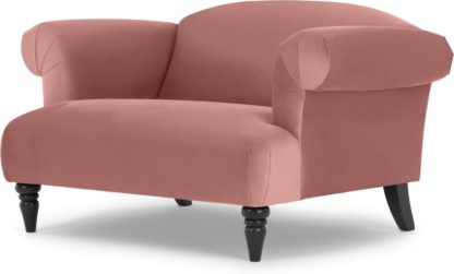 An Image of Claudia Loveseat, Velvet Old Rose