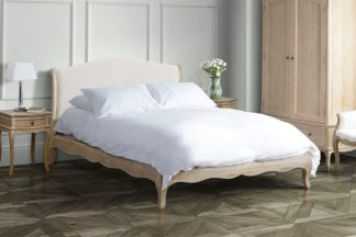 An Image of Les Milles Bed - Oatmeal Linen