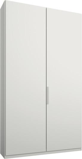 An Image of Caren 2 door 100cm Hinged Wardrobe, White Frame, Matt White Doors, Premium Interior