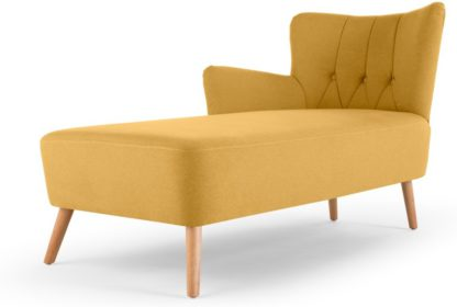 An Image of Charley Left Hand Facing Chaise Longue, Yolk Yellow