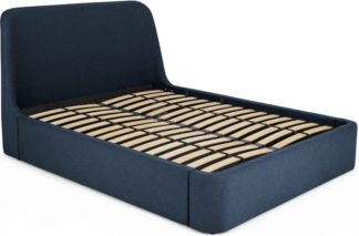 An Image of Hayllar Double Bed with Ottoman Storage, Aegean Blue